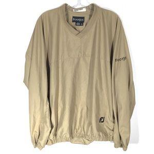 FootJoy Golf Tan Pullover Windbreaker Zip Pockets